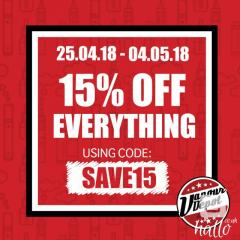Extra 15 Off On All Vaping Products