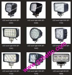 LED work light, LED spot light, LED driving light