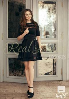 Amazing escort with brown hair and brown eyes