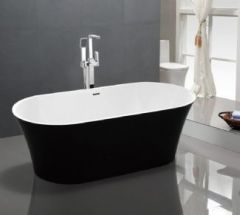 Santa Maria Double Ended Black Freestanding Bath