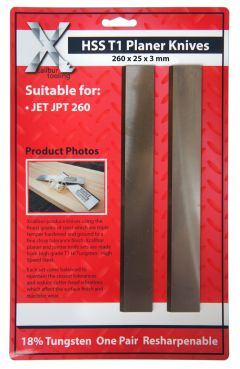 260 x 25 x 3 mm HSS Planer Blades Knives - Set of 3