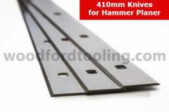 410mm Set of 3 Planer Blades For Woodfordtooling