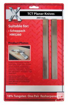 1 PAIR CARBIDE TIPPED SCHEPPACH PLANER BLADES