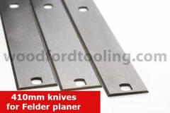 To fit Felder System Planer Blades Knives 410mm SS