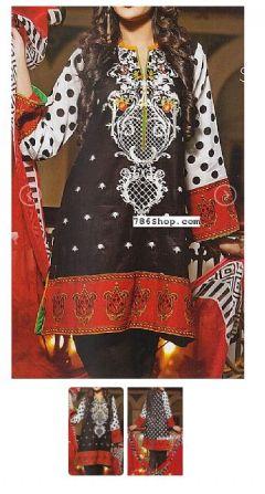 Black Lawn Suit - Buy Pakistani Lawn Dresses Online