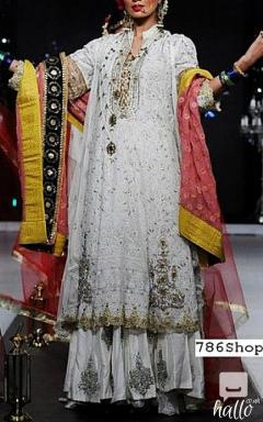 Off-white Chiffon Suit- Pakistani Party Dresses