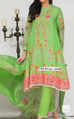 Parrot Green Jacquard Suit -Pakistani Winter Collection