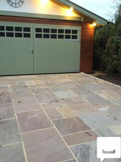 Buy Natural Autumn Brown Indian Sandstone Paving Slabs