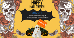 Halloween Special 50 Percent OFF on Wordpress Hosting