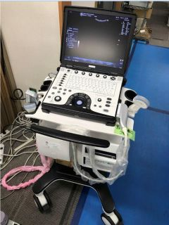 Ultrasound system GE Logiq E, 2012 year, with probes