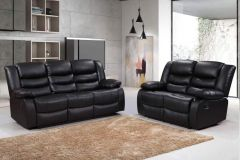 Buy Romano 23 Seater Sofa Set Recliners Bonded Leather
