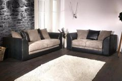 Purchase Joshua 3 + 2 Seater Sofa Set Leather/Cord at F