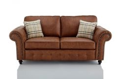 Buy Online Oakland Faux Leather 3 Seater Sofa