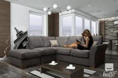 Get Hugo Chenille Fabric Formal Back Corner Sofa