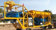 Compact Design Mobile Concrete Batching Plant Ma