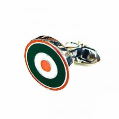 Brand New Orange and Green Roundel Cufflinks for Men
