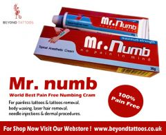 Mr. Numb painless numbing cream for tattoos removal