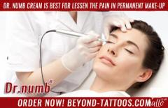Dr. Numb cream is best for lessen the pain in Permanent