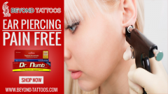 Pain Free Ear Piercing With Dr.Numb   Beyond Tattoos