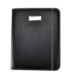 Leather Look Padded Office Business Conference Folder