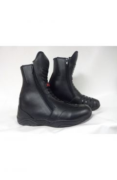 MOTORCYCLE TOURING LEATHER BOOTS - SHORT ARMOUR TREK HI