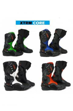 XTRM CORE MOTORBIKE SPORTS  BOOTS - LEATHER ARMOUR HIGH