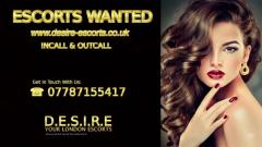 Escorts Wanted - Busy Incall Outcall Escort Agency