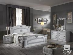 Alexandra White Finish Italian Bedroom Set