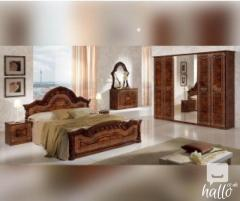 Selene Walnut Italian Bedroom Set