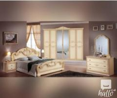 Gioia Cream Italian Bedroom Set 01