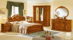 Milady Walnut Italian Bedroom Set