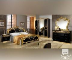 Sara Black And Gold Italian Bedroom Set 04