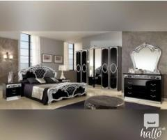 Sara Black And Silver Italian Bedroom Set 03