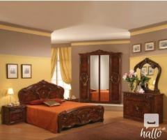 Sara Walnut Italian Bedroom Set 02
