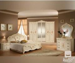 Sara Cream Italian Bedroom Set 01