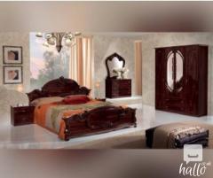 Argo Mahogany Finish Italian Bedroom Set 02