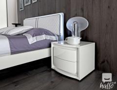 Alexandra Cream Finish Italian Bedroom Set 02