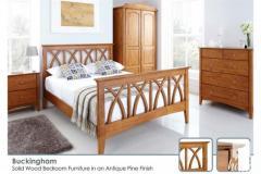 Buckingham Solid Oak Mission Bed Frame