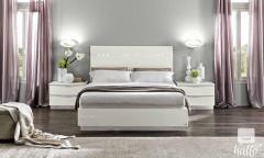 Onda White High Gloss Bed Frame