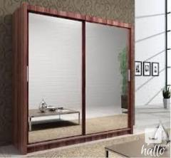 New York Full Mirror Sliding Wardrobe With Led L