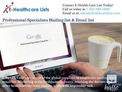 Professional Specialists Mailing & Email list in UK
