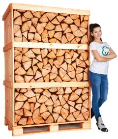 Birch Kiln Dried Firewood Logs in Full Crate