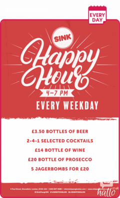 Hurry for the Special Hours Offer at Sink Pong London