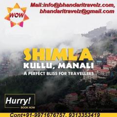Explore Shimla Tourism With Bhandari Travelz Pvt