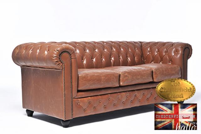 Original Chesterfield Sofa Vintage Mocca Leather Edinburgh City of Edinburgh Hallo