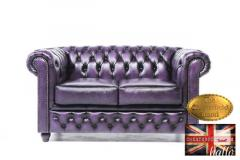 Original Chesterfield Sofa-Wash-Off Purple Leath