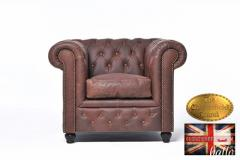Original Chesterfield Brand Atmchair-Vintage Bro