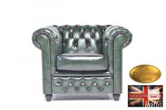 Original Chesterfield Brand  Armchair-Real Letah