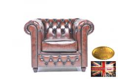 Original Chesterfield Brand Armchair -Real Leath