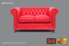 Original Chesterfield Brand ,2 Seats ,Red , Real